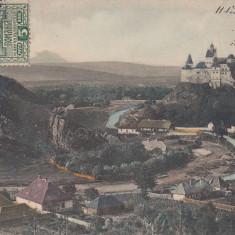 HUNEDOARA, VEDERE SPRE CASTEL, TCV, CIRCULATA 1907 - Carte Postala Transilvania 1904-1918, Printata