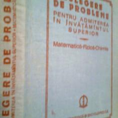 CULEGERE DE PROBLEME.. MATEMATICA -FIZICA -CHIMIE -I. CUCULESCU -COLECTIV (1984)