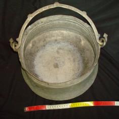Ceaun foarte vechi din alama/ cupru cositorit. Piesa rara de colectie ! - Metal/Fonta, Vase