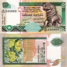 SRI LANKA 10 rupees 2006 UNC!!! - bancnota asia