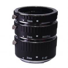 Tuburi de extensie macro Meike cu AF (TTL) pt Canon EF EF-S - Inel macro obiectiv foto