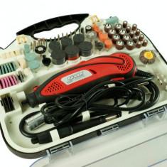 044104-Polizor electric drept 135 W + 208 accesorii Raider Power Tools