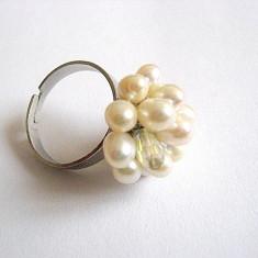 Inel perle naturale si cristal 24049