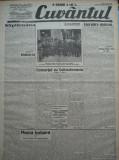 Cuvantul , ziar legionar , 29 Mai , 1933 , articole Mihail Sebastian , Racoveanu