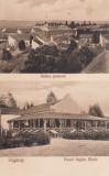 FAGARAS , VEDERE GENERALA SI PARCUL REGINA MARIA , CIRCULATA 1930, Printata