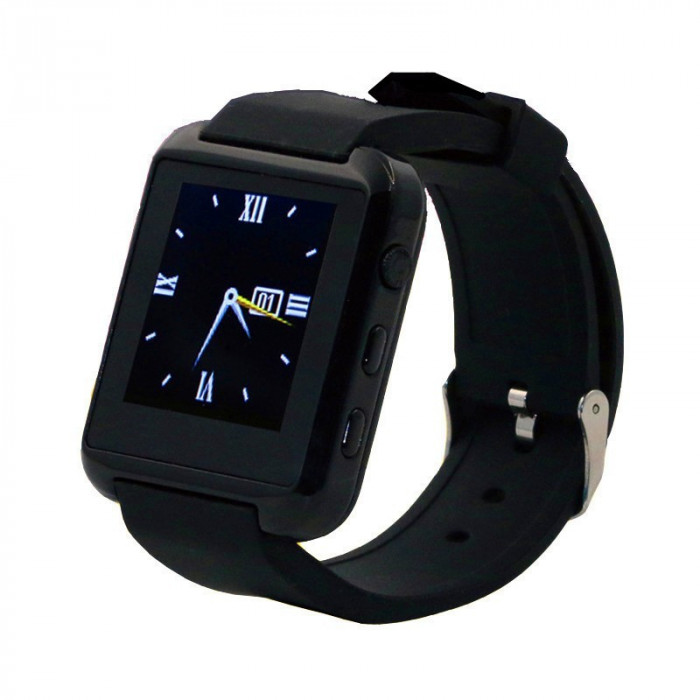 Smartwatch U-WATCH U8S Bluetooth Negru foto mare
