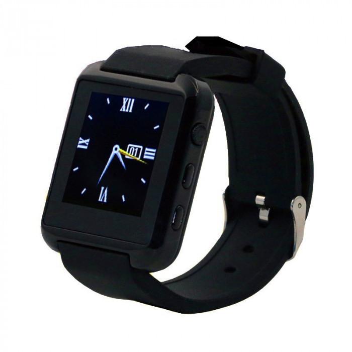 Smartwatch U-WATCH U8S Bluetooth Negru foto mare
