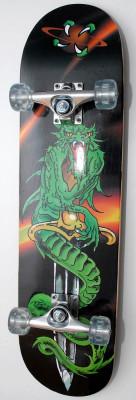 Skateboard Spartan Dragon - Roti Silikon - Axe Aluminiu - Rulmenti ABEC 5 - Nou foto