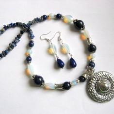 Set lapis lazuli si opal 25687