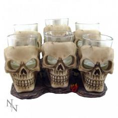 Set 6 pahare shot cu craniu