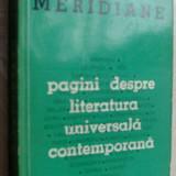 A.E.BACONSKY-MERIDIANE:PAGINI DESPRE LITERATURA UNIVERSALA CONTEMPORANA, EPL 1965