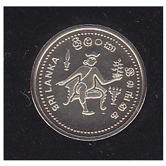 Moneda Sri Lanka ( Ceylon ) 500 Rupii 1991 - KM#153 PROOF ( aur 12 carate-rara ), Asia
