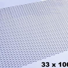 Plasa Tuning aluminiu Argintie / Crom - Plasa aluminiu tuning
