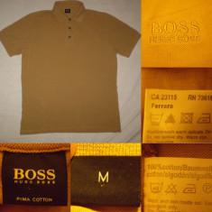 Tricou HUGO BOSS Ferrara marimea M barbati polo pique - bob de orez - Tricou barbati, Marime: M, Culoare: Din imagine
