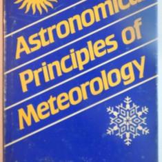 ASTRONOMICAL PRINCIPLES OF METEOROLOGY de NECHIT VINEREANU, 1988 - Carte ezoterism