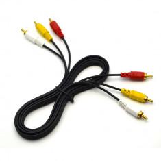 Cablu RCA tata - tata Compozit AV Audio Video lungime 1.5m