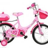 Bicicleta copii 12''(2-5ani) cu 2 cosulete, Numar viteze: 1, Ajutatoare