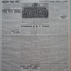 Cuvantul , ziar legionar , 7 Iunie 1933 , articole Mihail Sebastian , Racoveanu