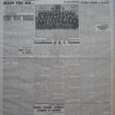 Cuvantul, ziar legionar, 7 Iunie 1933, articole Mihail Sebastian, Racoveanu