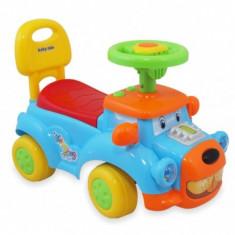Masinuta Fara Pedale Catelus Albastru Cu Sunete Baby Mix De Impins Pentru Copii