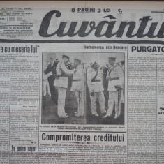 Cuvantul, ziar legionar, 8 Iunie 1933, artic. Mihail Sebastian, Nae Ionescu