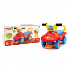Masinuta Pentru Copii De Impins Globo Vitamina G Interactiva Buggy Multicolora Cu Portbagaj Baby Mix