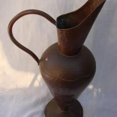 Vaza mare decorativa din cupru lucrata manual - Arta din Metal
