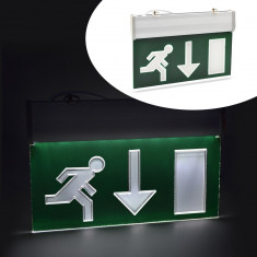 Panou de siguranta LED, afisaj EXIT jos, cu acumulator - Bec / LED