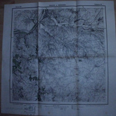 HARTA MEDIGIA-RASOVA  SI IMPREJURIMILE, 1916 /SERVICIUL GEOGRAFIC AL ARMATEI