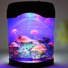 Acvariu cu 3 meduze si iluminare LED JellyFish