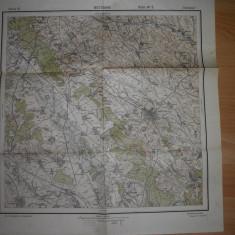 HARTA BOTOSANI SI IMPREJURIMILE, 1939 /SERVICIUL GEOGRAFIC AL ARMATEI