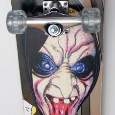 Skateboard inSPORTline Spartan Death - cu placa biconcava si roti din silicon, Copii