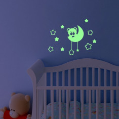 Sticker fosforescent luminos model Ursulet&Luna