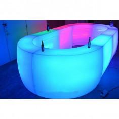 Bar portabil oval iluminat cu LED - Mobila HORECA