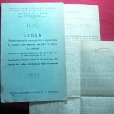 C.Gr.Zotta - Legea pt.Masuri exceptionale-Armata in stare de razboi - 1943 - Carte Legislatie