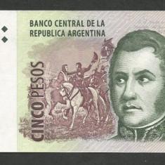 ARGENTINA 5 PESOS 2014 XF++ a UNC [1] P-353a.6, Semn Fabrega - Boubou - bancnota america