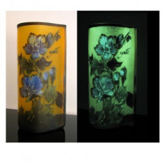 Vaza Galle fosforescenta Flori - Vaza si suport flori