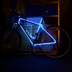 Kit luminos tuning bicicleta fir EL Wire