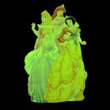 Sticker decorativ Printese Disney fosforescent, autoadeziv