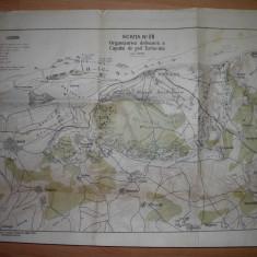 HARTA 1934, ORGANIZAREA DEFENSIVA A CAPULUI DE POD TURTUCIA - Harta Romaniei