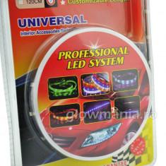 Banda flexibila cu leduri colorate pentru masina