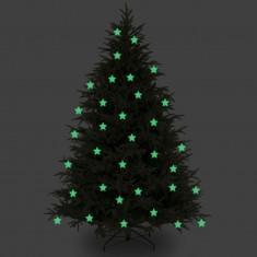 Stelute glow pentru pomul de Craciun set 10 bucati - Globuri brad