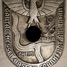 I.691 GERMANIA AL III-LEA REICH INSIGNA NAZISTA HESSEN NASSAU FRANKFURT, Europa
