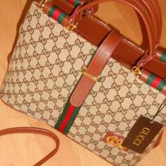 GENTI GUCCI/NEW MODEL TIP OFFICE/DOUA COMPARTIMENTE INSCRIPTIONATE - Geanta Dama Gucci, Culoare: Din imagine, Marime: Medie