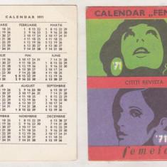 Bnk cld Calendar de buzunar Revista Femeia 1971