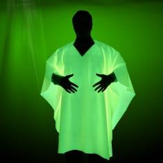 Material textil verde glow luminiscent