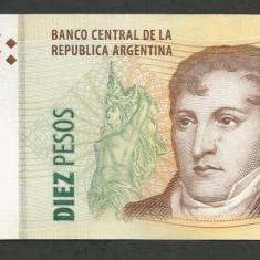 ARGENTINA 10 PESOS 2003 XF++ [1] P-354a.7, Semn Fabrega - Dominguez - bancnota america