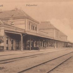 SATU MARE, GARA, TREN - Carte Postala Maramures dupa 1918, Necirculata, Printata