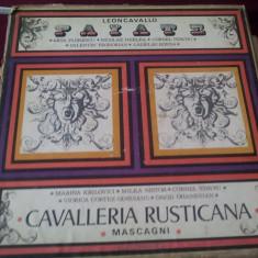 DISC VINIL LEONCAVALLO PAIATE-CAVALLERIA RUSTICANA 3 VINIL - Muzica Opera