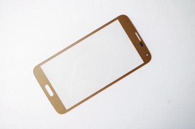 Geam Samsung Galaxy S5  ecran nou original auriu + folie sticla foto